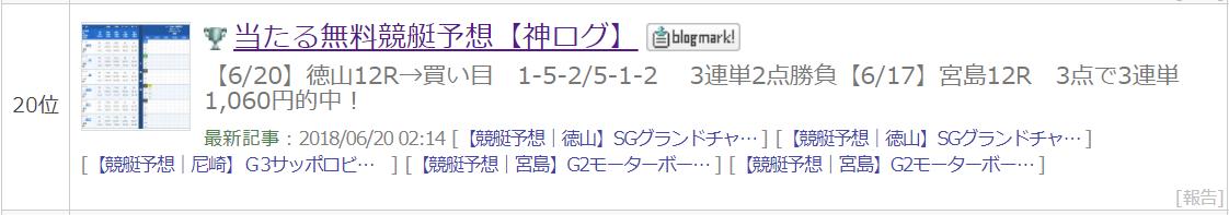 【競艇予想|徳山】SGグランドチャンピオン2018(3日目/12R予選)│1号艇「白井英治」から3連単2点で勝負!!【6月21日】