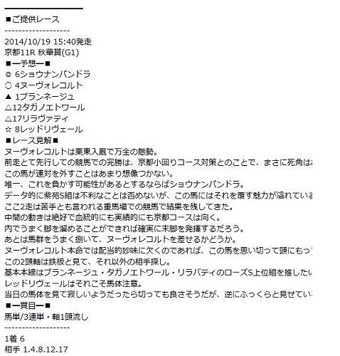 【エリザベス女王杯 2014】最終予想発表!