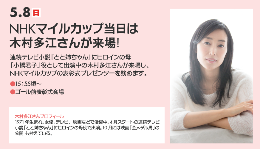 【NHKマイルC2016】予想|先週に引き継きNHKサインか!?プレゼンターは木村多江さん!?
